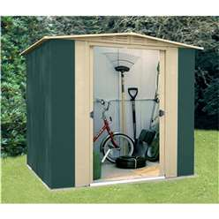 6 x 6 Deluxe Six Metal Shed (1.83m x 1.85m)