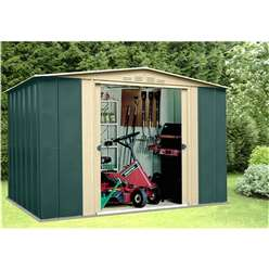 10ft x 9ft Deluxe Ten Metal Shed (3.07m x 2.78m)