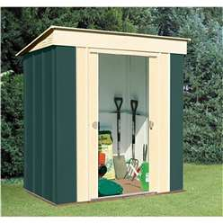 **PRE ORDER - DUE BACK IN STOCK NOVEMBER**  6 x 4 Deluxe Pent Metal Shed (1.84m x 1.23m)