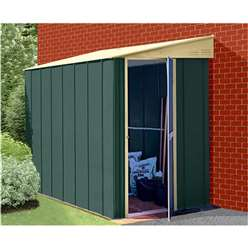 5ft x 8ft Deluxe Lean-To Metal Shed (1.54m x 2.46m)