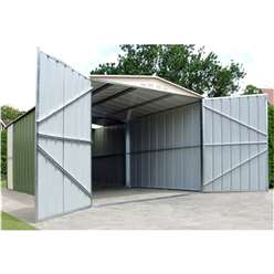 10ft x 19ft Deluxe Metal Garage (3.07m x 5.88m)