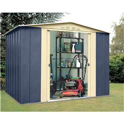 8 x 6 Deluxe Blue Metal Shed (2.45m x 1.85m)