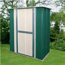 **PRE ORDER - DUE BACK IN STOCK END OF SEPTEMBER**5 x 3 Deluxe Utility Metal Shed (1.58m x 0.92m)
