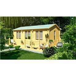 7.0m x 4.0m (23ft x 13ft) Log Cabin (5150) - Double Glazing (44mm Wall Thickness)