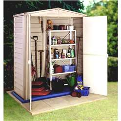 5ft x 5ft Deluxe Duramax Plastic PVC Shed With Steel Frame (1.73m x 1.78m) With Floor