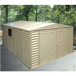 10ft x 16ft Deluxe Duramax Plastic PVC Garage With Steel Frame (3.22m x 4.80m)