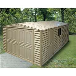 10ft x 18ft Deluxe Duramax Plastic PVC Garage With Steel Frame (3.22m x 5.59m)