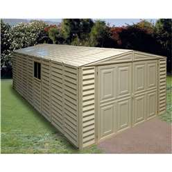 **PRE ORDER - CURRENTLY OUT OF STOCK**  10 x 21 Deluxe Duramax Plastic PVC Garage With Steel Frame (3.22m x 6.38m)