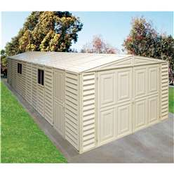 10ft x 23ft Deluxe Duramax Plastic PVC Garage With Steel Frame (3.22m x 7.17m)