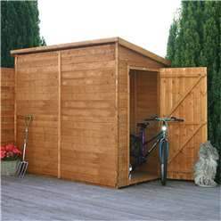 8ft x 4ft Windowless Pent Premier Tongue and Groove Single Door Wooden Garden Shed (12mm Tongue and Groove Floor and Roof) ***extended Delivery Typically 14 Working Days As Treated As Special