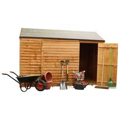 6ft x 10ft Value Windowless Reverse Overlap Apex Shed Single Door (10mm Solid OSB Floor) ***extended Delivery Typically 14 Working Days As Treated As Special - Please See Product Page For More Info