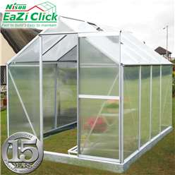 8ft x 6ft Eazi Click Greenhouse + FREE BASE