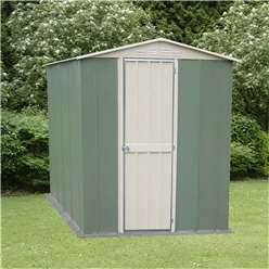 6 x 4 Deluxe Madrid Hinged Door Metal Shed (1.83m x 1.23m)