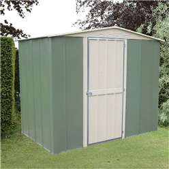 8ft x 6ft Deluxe Madrid Hinged Door Metal Shed (2.45m x 1.85m)
