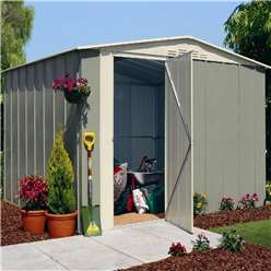 10 x 8 Deluxe Madrid Hinged Door Metal Shed (3.07m x 2.47m)