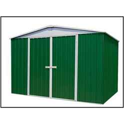 "**PRE ORDER - DUE IN END OF OCTOBER** 9' 10"" x 12' Premier Regent  Eucalyptus Metal Garden Shed (3m x 3.66m)"