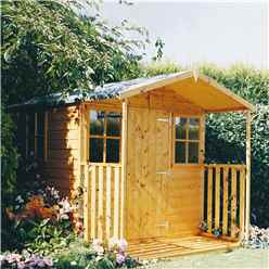 7 x 7 Tongue and Groove Apex Garden Wooden Shed With Single Door + Optional Extra Verandah (12mm Tongue and Groove Floor)