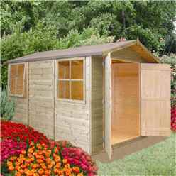 10 x 7 Tongue and Groove Pressure Treated Apex Wooden Shed (12mm Tongue and Groove Floor)