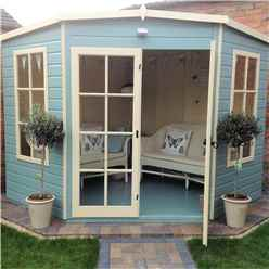 8ft x 8ft Wooden Corner Summerhouse (12mm Tongue and Groove Floor)