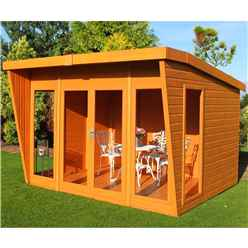 10ft x 8ft Wooden Summerhouse (12mm Tongue and Groove Floor)