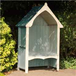 "4ft 5"" x 2' 4"" Wooden Seat Arbour"