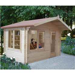 10ft x 10ft Log Cabin With Fully Glazed Single Door (2.99m x 2.99m) - 28mm Wall Thickness