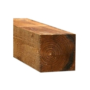 8FT x 3 x 3 INCH (2.4m x 75x 75mm) Sawn Brown Pressure Treated Fence Post (Add to pack)