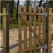 4FT High Palisade Round Top Gate 3ft Wide