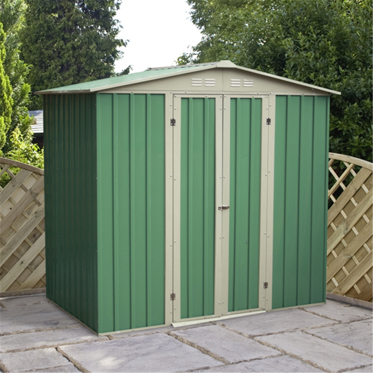 6 x 4 value apex metal garden shed for Apex garden sheds