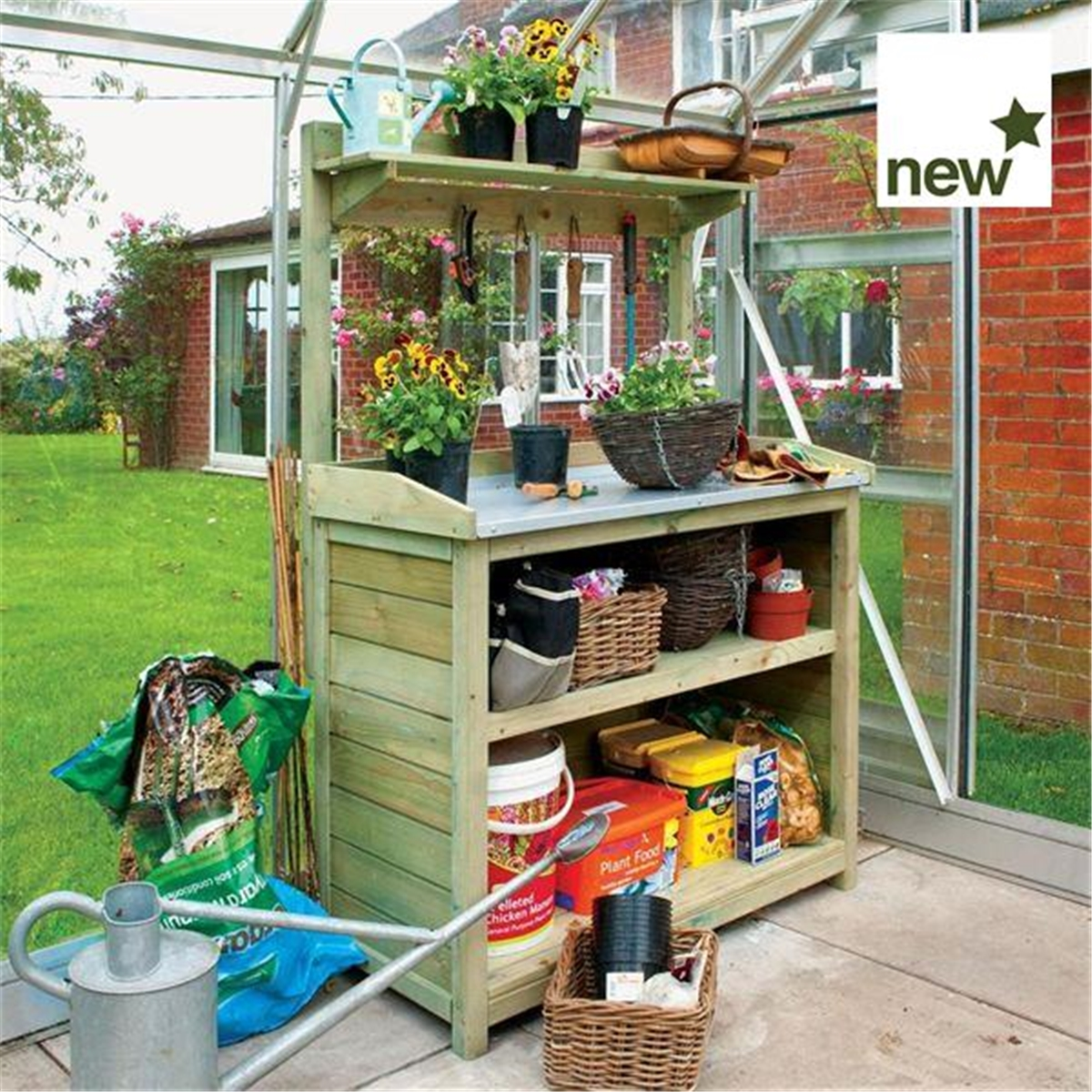 Potting Table Garden Potting Tables Greenhouse Potting