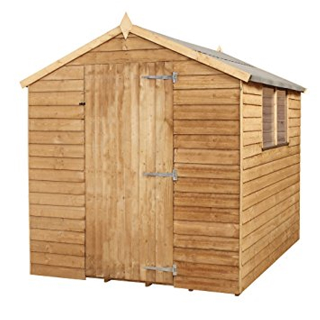 8 x 6 value wooden overlap apex shed for Two floor shed