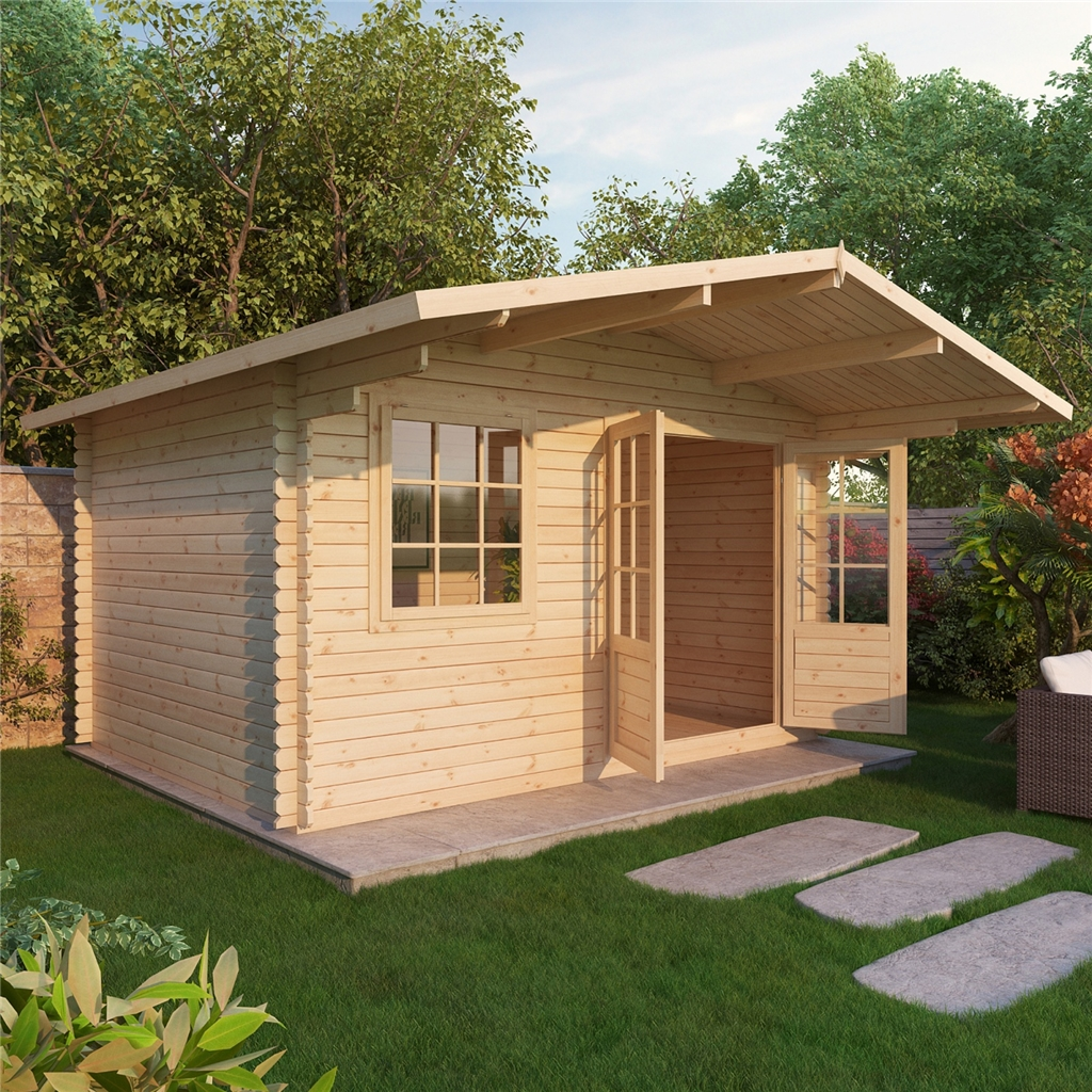Superb img of Escape Log Cabins : 4m x 3m Premier Hideaway Log Cabin (Double Glazing  with #9F6C2C color and 1024x1024 pixels
