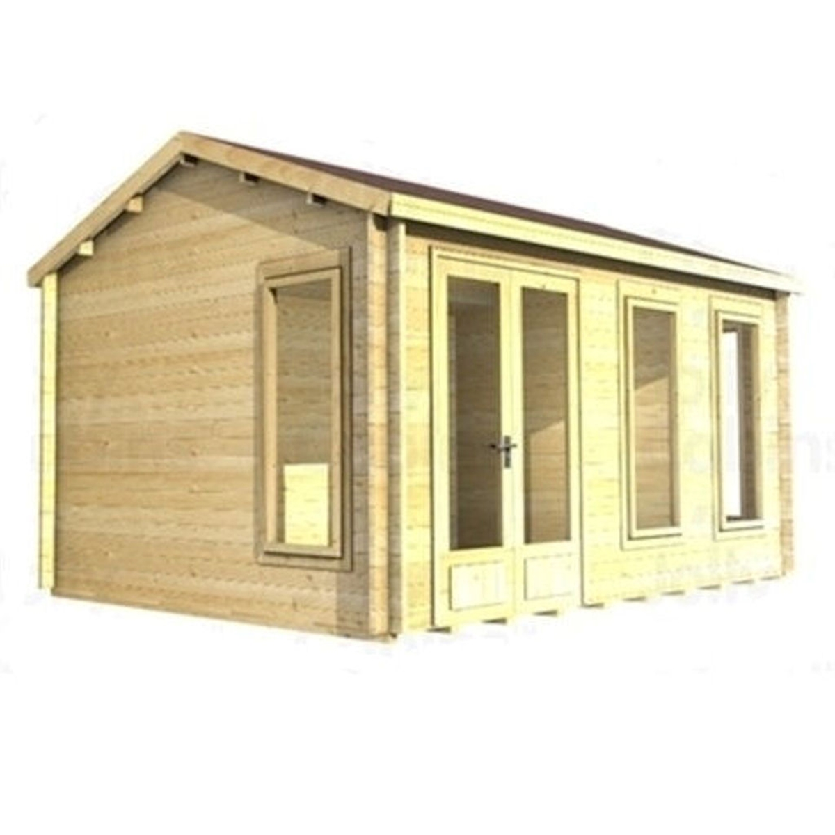 3m X 3m 10 X 10 Log Cabin 2025 Double Glazing 70mm Wall Thickness Best . Full resolution  pic, nominally Width 1200 Height 1200 pixels, pic with #ACAC1F.