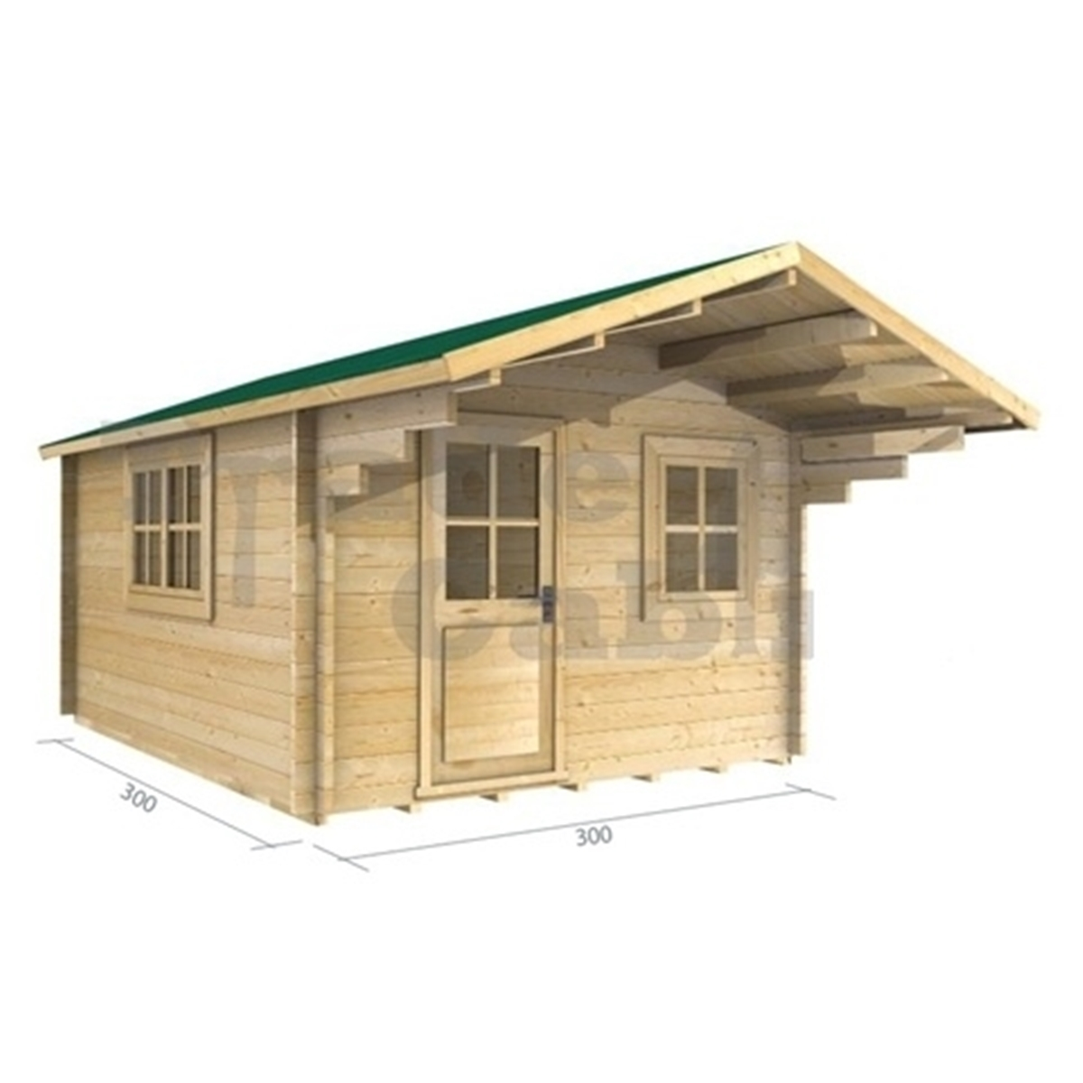 3m X 3m (10 X 10) Log Cabin (2025) Double Glazing (70mm Wall. Full resolution  snapshot, nominally Width 1200 Height 1200 pixels, snapshot with #996632.