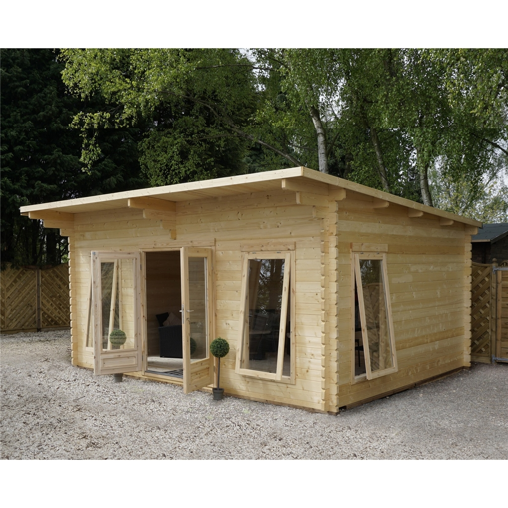 Superb img of Premier Pent Log Cabin with #A16A2A color and 1200x1200 pixels