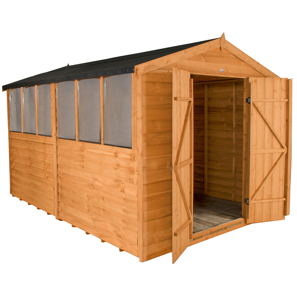12ft X 8ft Select Overlap Apex Wooden Garden Shed With 6