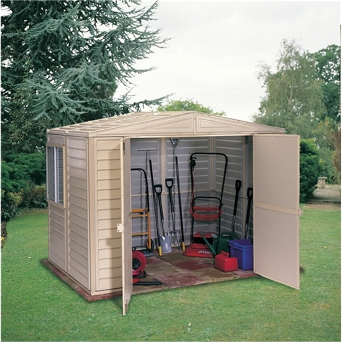 8 x 10 deluxe plastic pvc shed