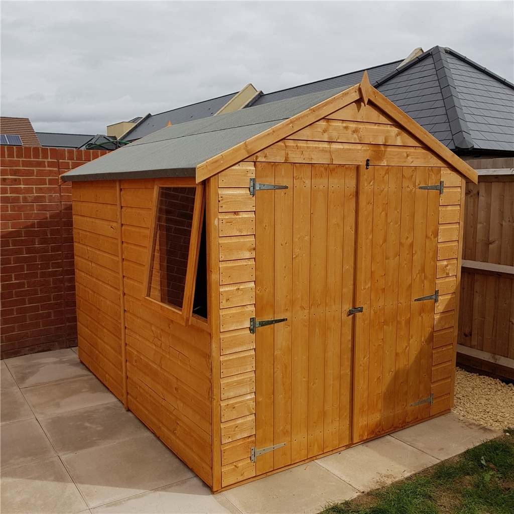8 x 6 apex wooden shed workshop for Garden shed 8 x 6
