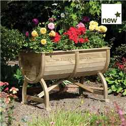 Deluxe Marberry Barrel Planter