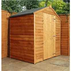 3 x 6 Windowless Value Wooden Overlap Apex Shed With Single Door (10mm Solid OSB Floor) - 48HR + SAT Delivery*