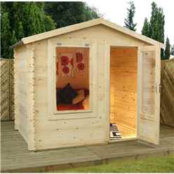 2.5m x 2m Budget Log Cabin (19mm Tongue And Groove) + Free Floor & Felt & Safety Glass
