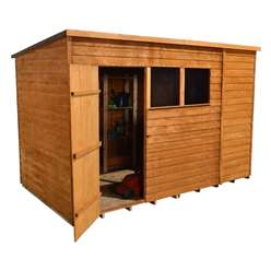 10 X 6 Select Overlap Pent Wooden Garden Shed With 2 Windows And Single Door