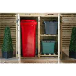 Wheelie Bin And Recycling Box Chest Store - 1 x Wheelie Bin + 2 x Recycling Boxes