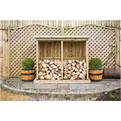 Redwood Pressure Treated Double Log Store