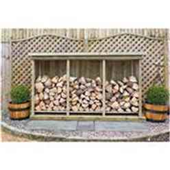 Redwood Pressure Treated Triple Log Store