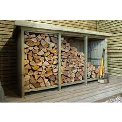 Redwood Pressure Treated Triple Log Store