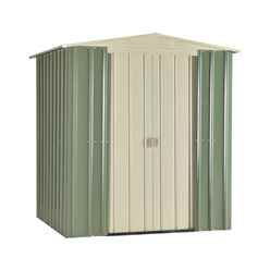 DISCO 2/3/19 * 6ft X 5ft Premier Easyfix Mist Green Apex Shed (1.71m X 1.44m)