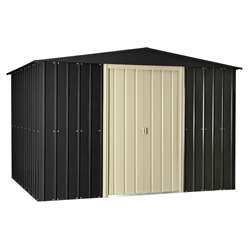 **PRE-ORDER:DUE BACK IN STOCK: 04TH DECEMBER** 10 x 8 Premier EasyFix Slate Grey Apex Shed (3.07m x 2.47m)