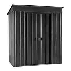 OOS - BACK W/C 11TH JAN 2021 - 6 x 4 Premier EasyFix - Pent - Metal Shed - Anthracite Grey (1.80m x 1.24m)
