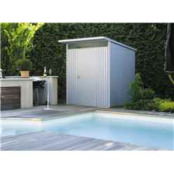 6 X 7 Medium Premier Heavy Duty Metal Metallic Silver Shed  (1.8m X 2.2m)
